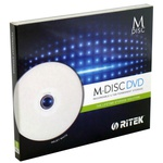 Диск DVD RITEK 4.7Gb 4X Jewel 1 pcs Printable M-DISC (90Y31IARTK001)