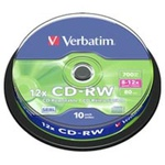 Диск CD Verbatim 700Mb 12x Cake box 10шт (43480)