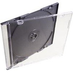 Бокс для диска CD/ DVD Slim box/  black (1шт) _ ()