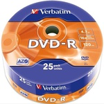 Диск DVD Verbatim 4.7Gb 16X Spindle Wrap box 25шт (43808)
