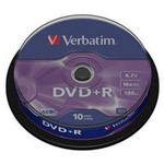 Диск DVD Verbatim 4.7Gb 16X CakeBox 10шт Silver (43498)