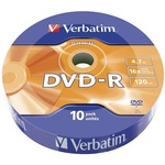 Диск DVD Verbatim 4.7Gb 16X Spindle Wrap box 10шт DATA LIFE (43839)